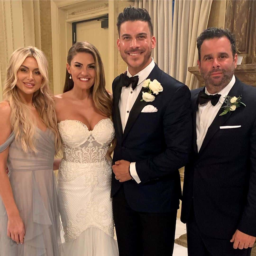 Brittany Cartwright and Jax Taylor at wedding reception with Lala and Randall