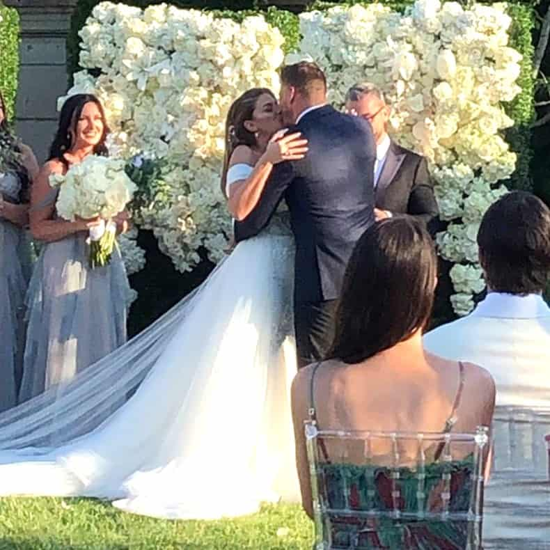 Brittany Cartwright and Jax Taylor wedding kiss