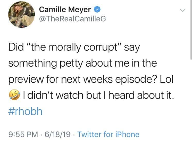 Camille Grammer slams Faye Resnick on Twitter