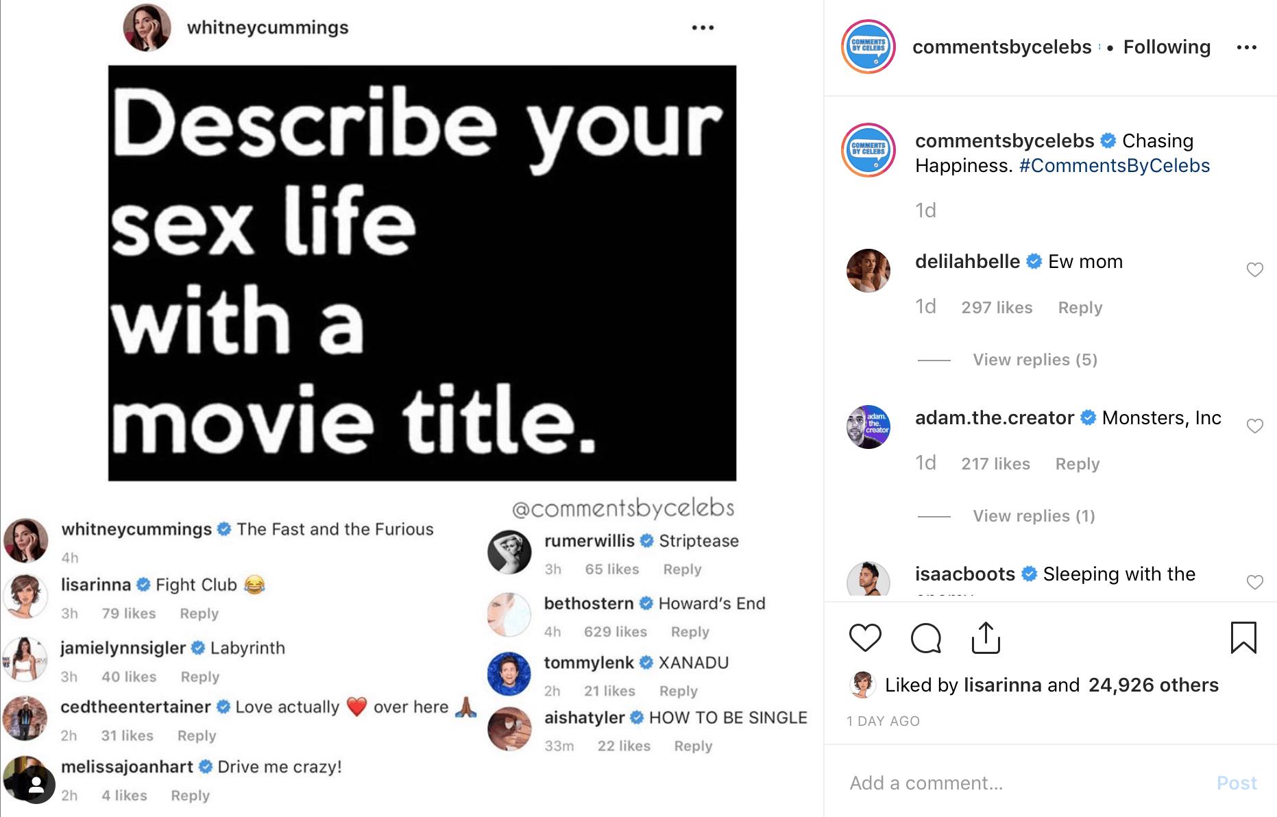 Delilah Hamlin Responds to Lisa Rinna Instagram Post About Sex