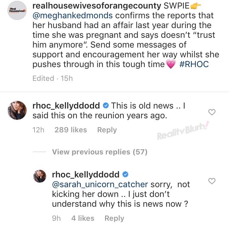 RHOC's Kelly Dodd Reacts to Jim Edmonds Affair on Instagram
