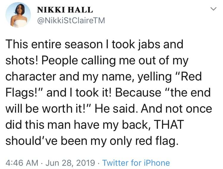 Nikki Calls Out Pauly on Twitter