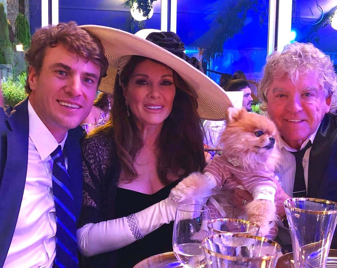 Shep Rose with Lisa Vanderpump and Ken Todd at Jax and Brittany wedding
