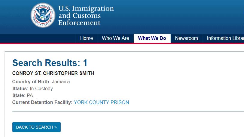 York County Prison in Pennsylvania.