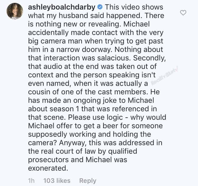 Ashley Darby responds to RHOP unaired footage of Michael Darby and Cameraman