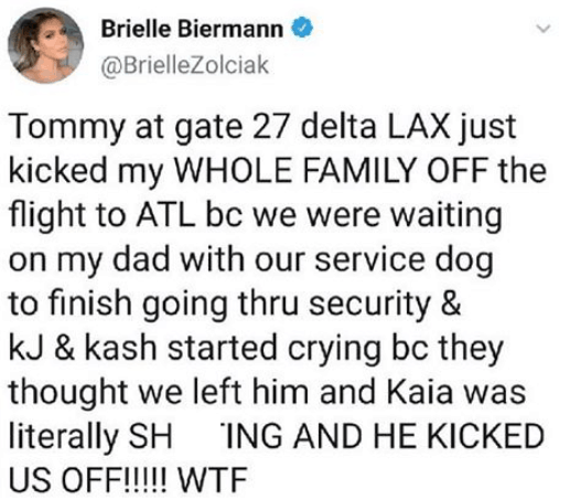 Brielle Biermann Slams Delta On Twitter