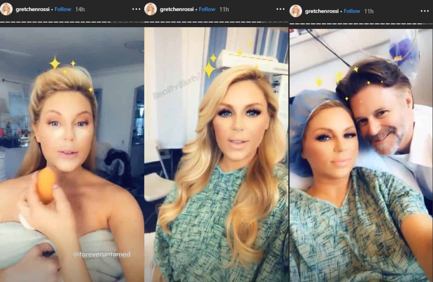 Gretchen Rossi Hospital Delivery Room Glam Photos