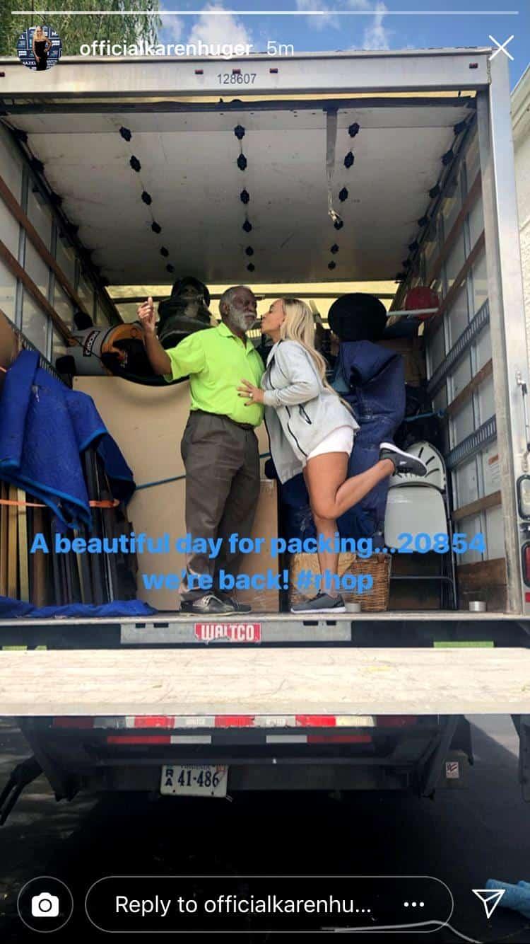 Karen Huger Moving Back to Potomac