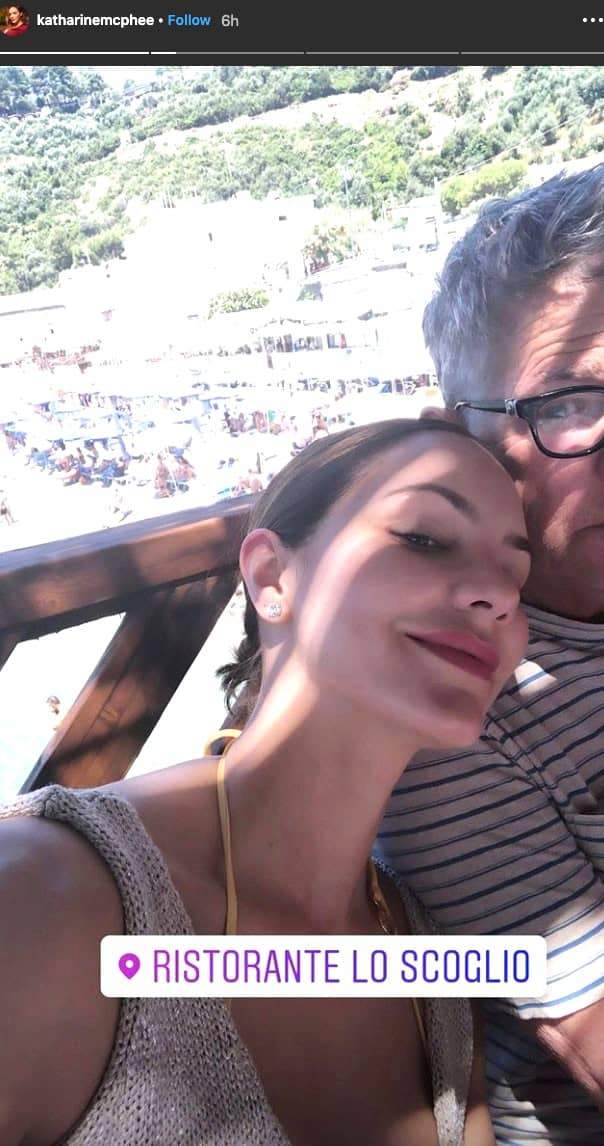 Katharine McPhee and David Foster honeymoon photo