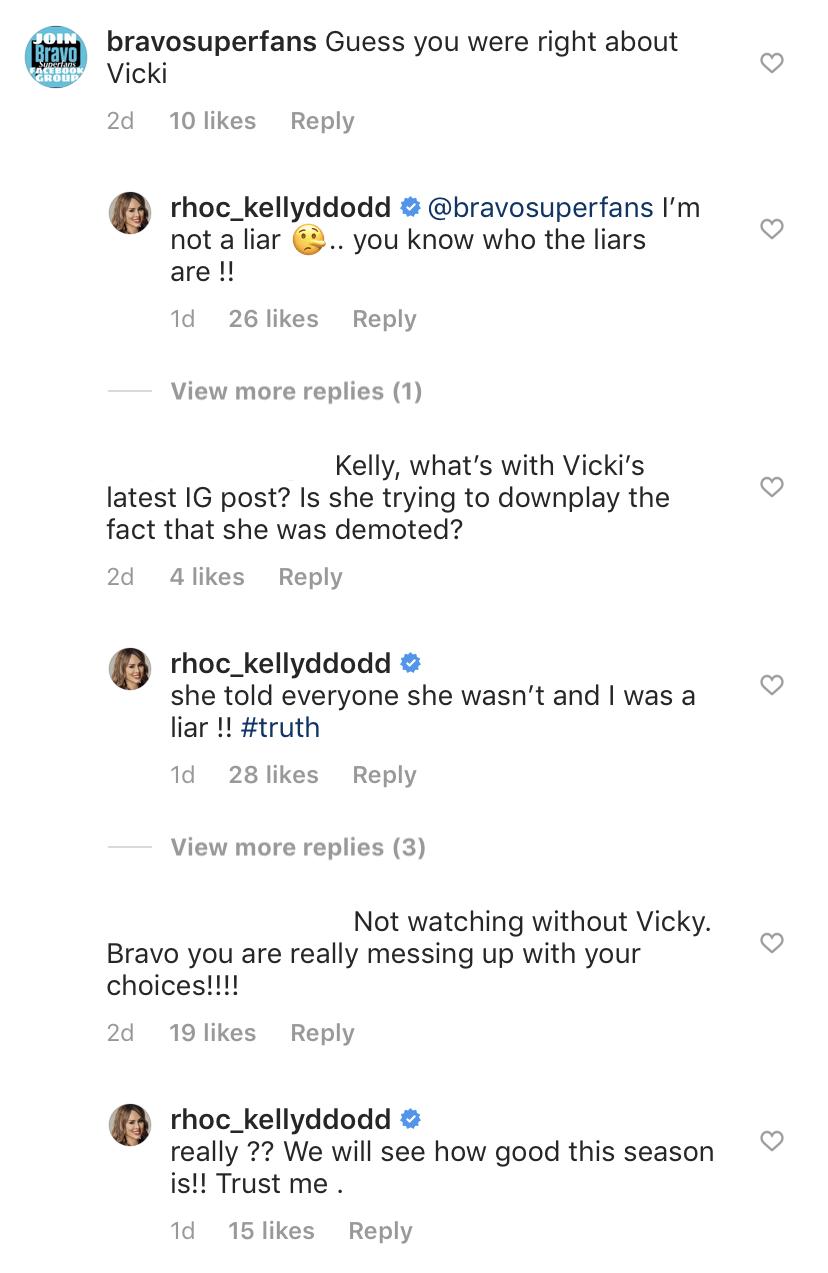 Kelly Dodd Slams Vicki as a Liar Over RHOC Demotion