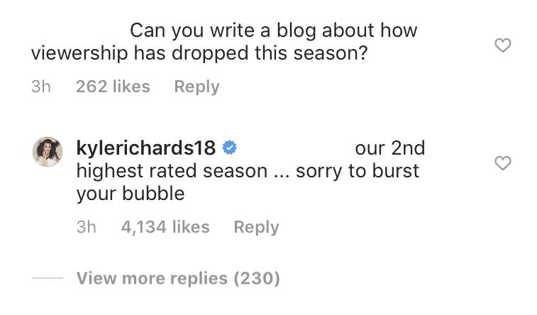 RHOBH Kyle Richards Defends RHOBH Ratings