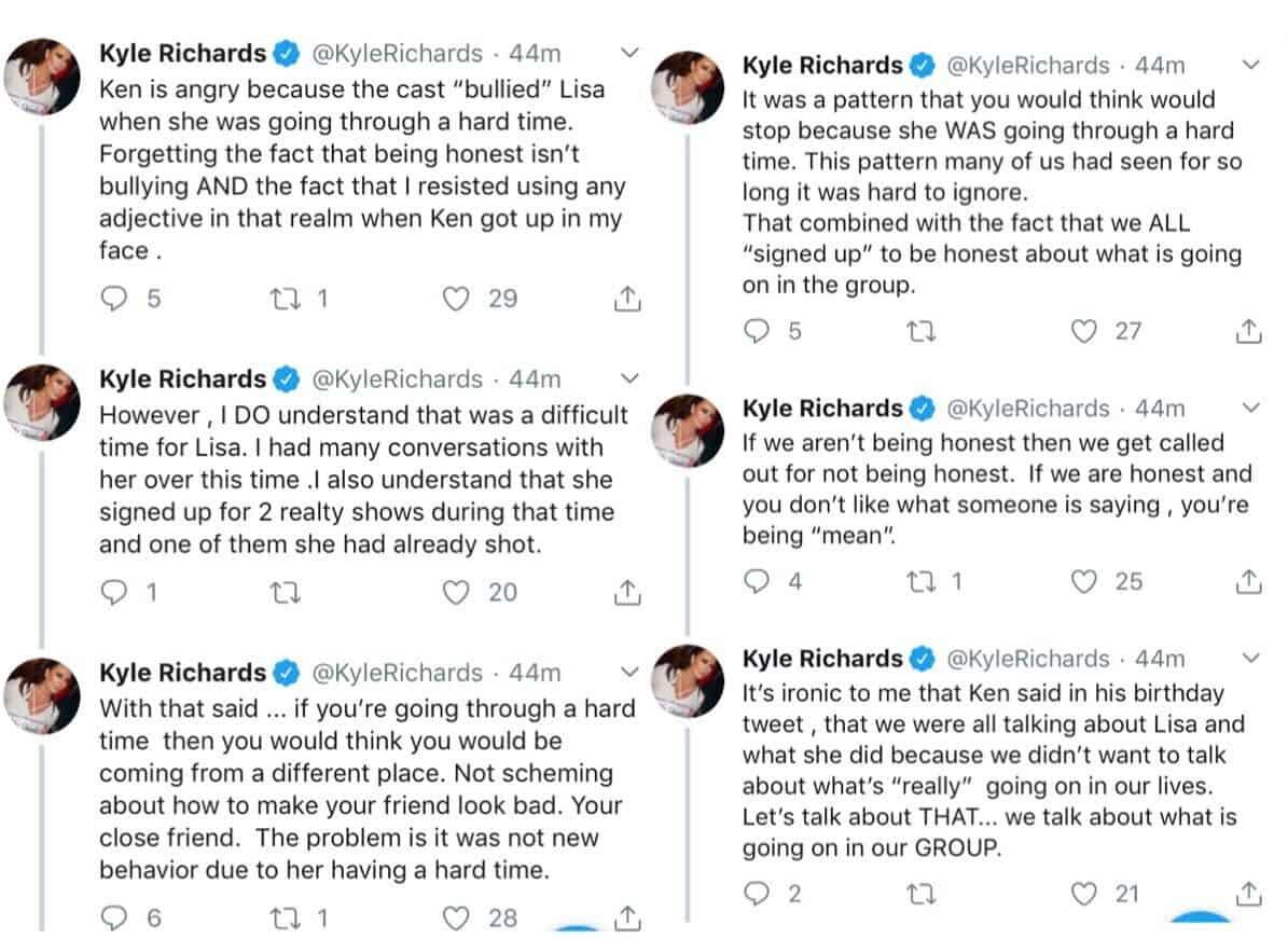 RHOBH Kyle Richards Fires Back at Ken Todd and Accuses Lisa Vanderpump of Scheming