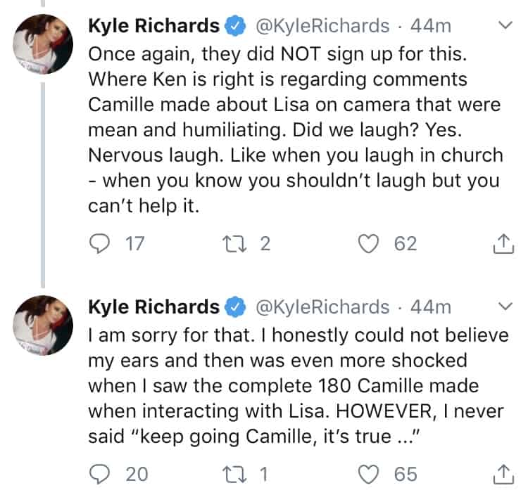 RHOBH Kyle Richards Responds to Camille Grammer Teeth Comment