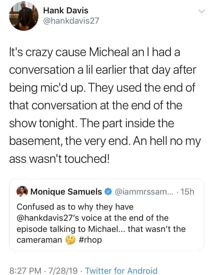 RHOP star Monique Samuels says footage of Michael Darby was manipulated