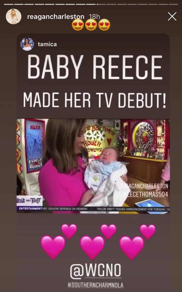 Reagan Charleston Baby Makes TV Debut