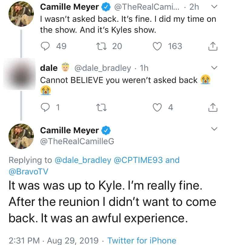 Camille Grammer Confirms She Won't Return to RHOBH and Blames Kyle Richards
