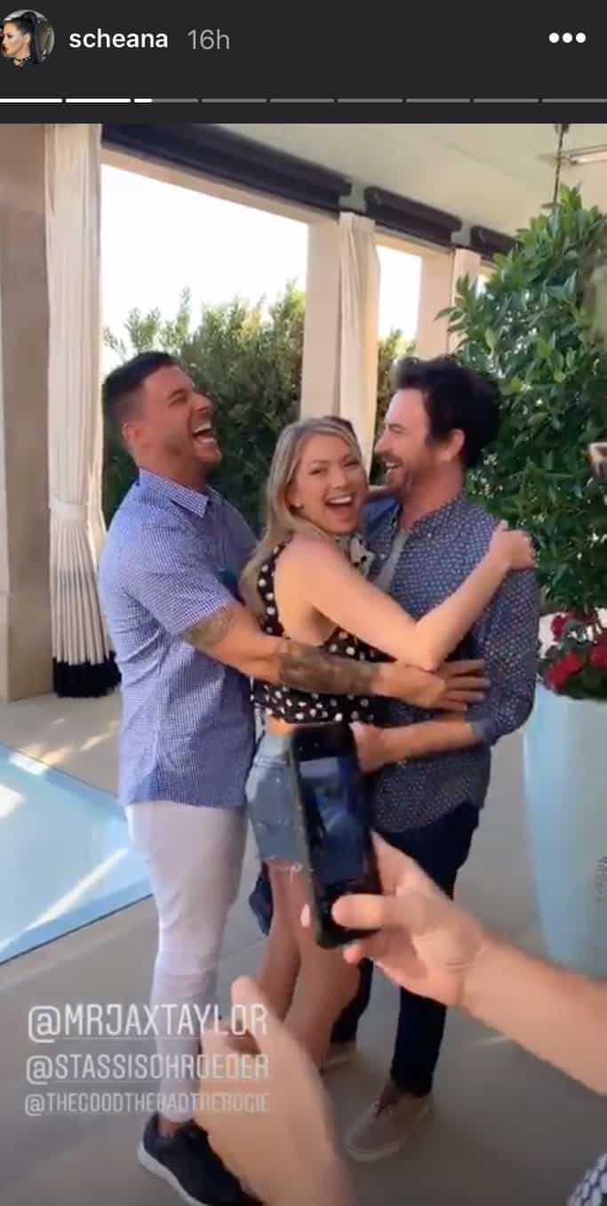 Vanderpump Rules Jax Taylor Hugs Stassi Schroeder After Engagement