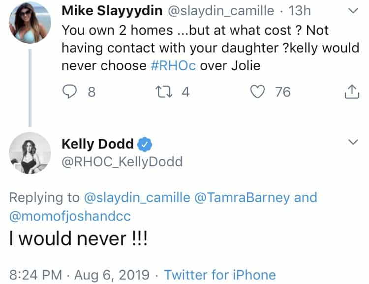 Kelly Dodd Shades Tamra's Relationship With Daughter