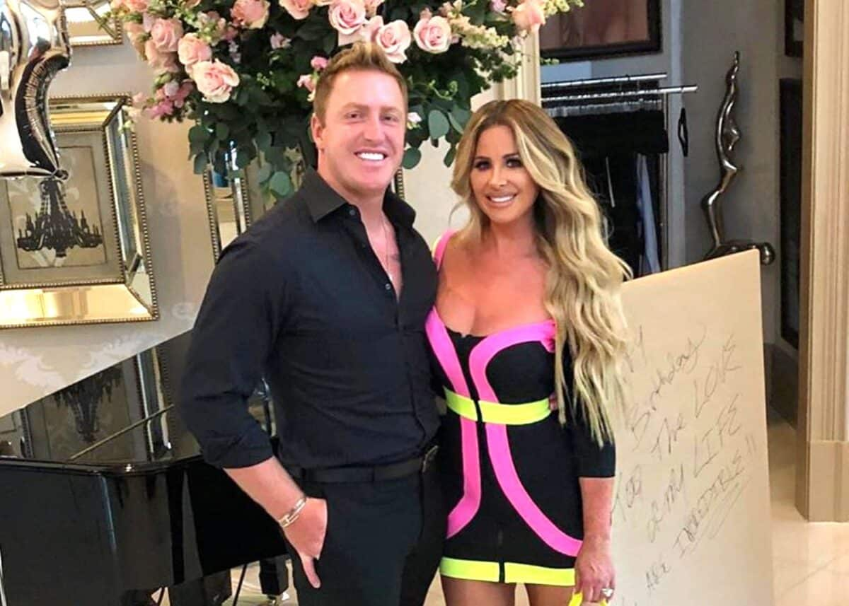 PHOTOS: Don't Be Tardy's Kim Zolciak Shows Off Her Backside in a Colorful Thong Bikini, Plus She Reveals the Secret to Her Happy Marriage With Husband Kroy Biermann