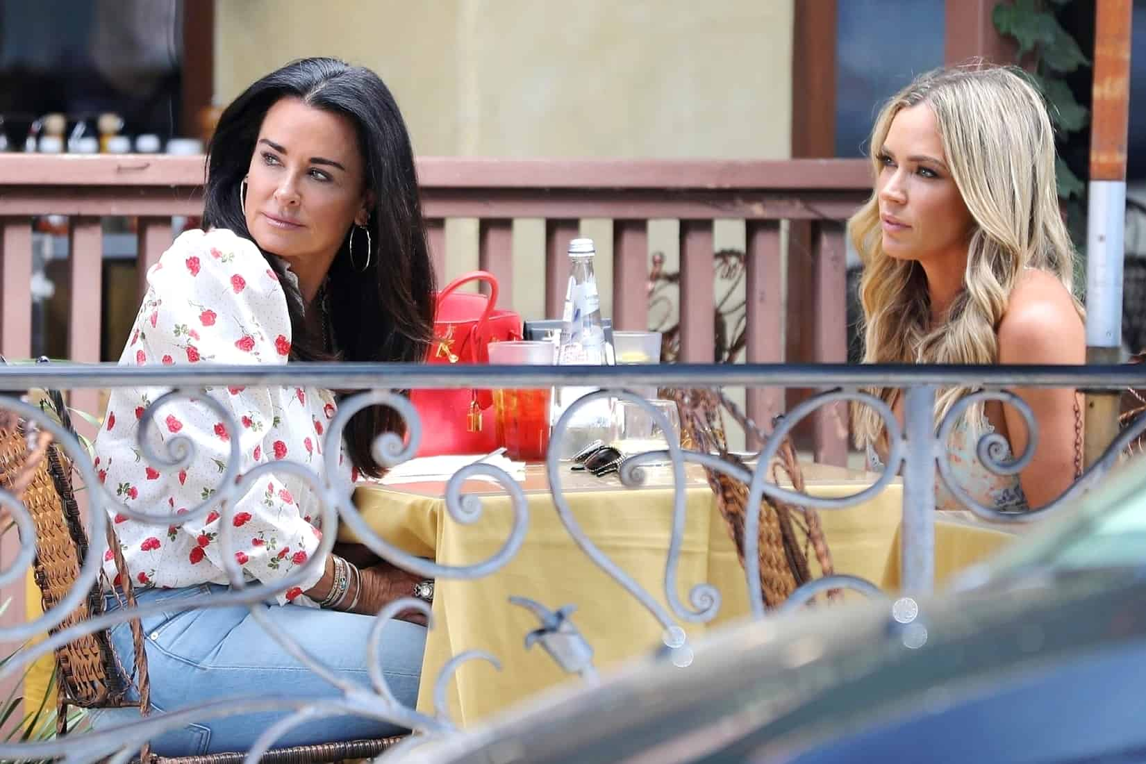 Kyle Richards and Teddi Mellencamp Film Lunch Date for RHOBH Season 10