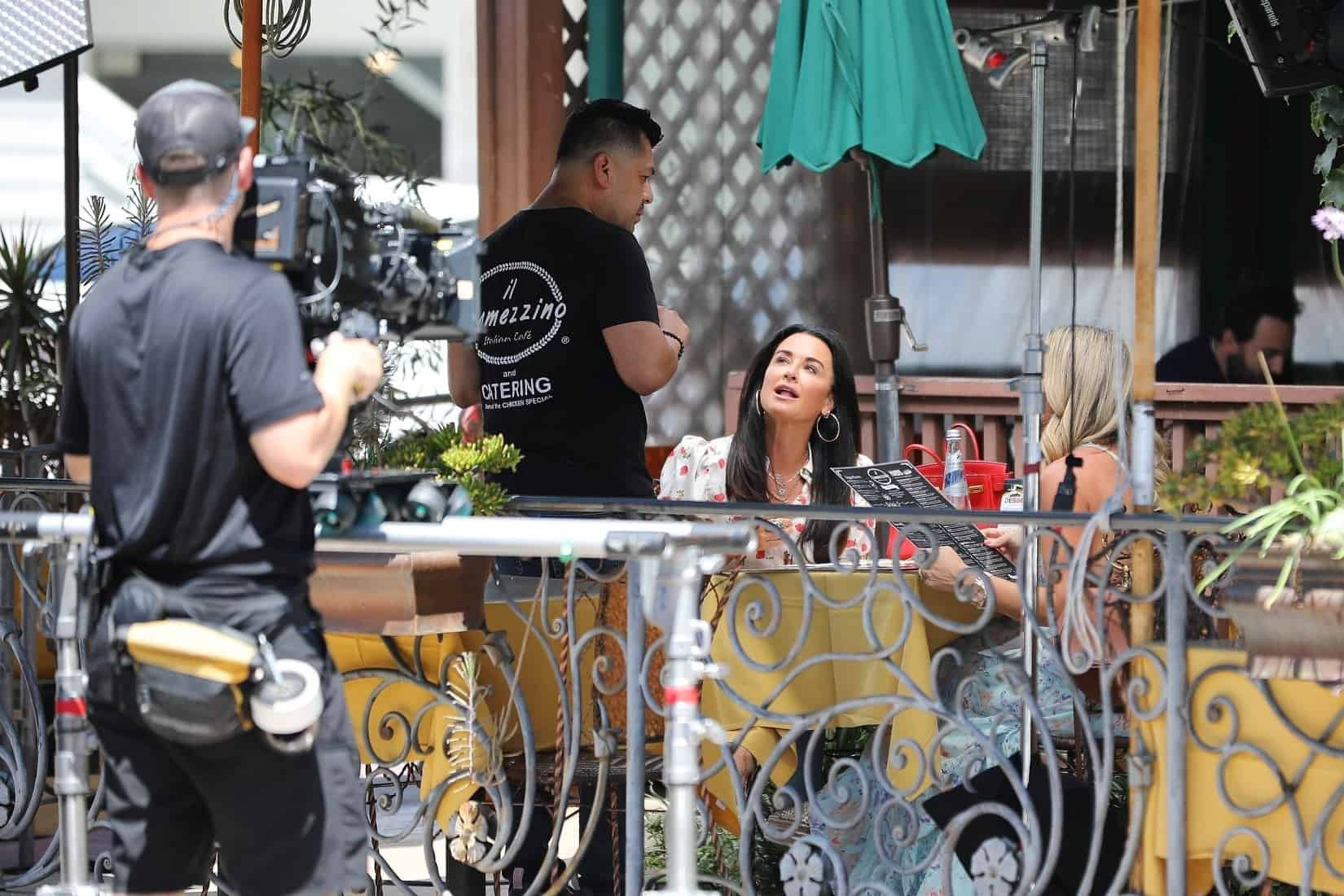 Kyle Richards and Teddi Mellencamp Film RHOBH Season 10 in Studio City