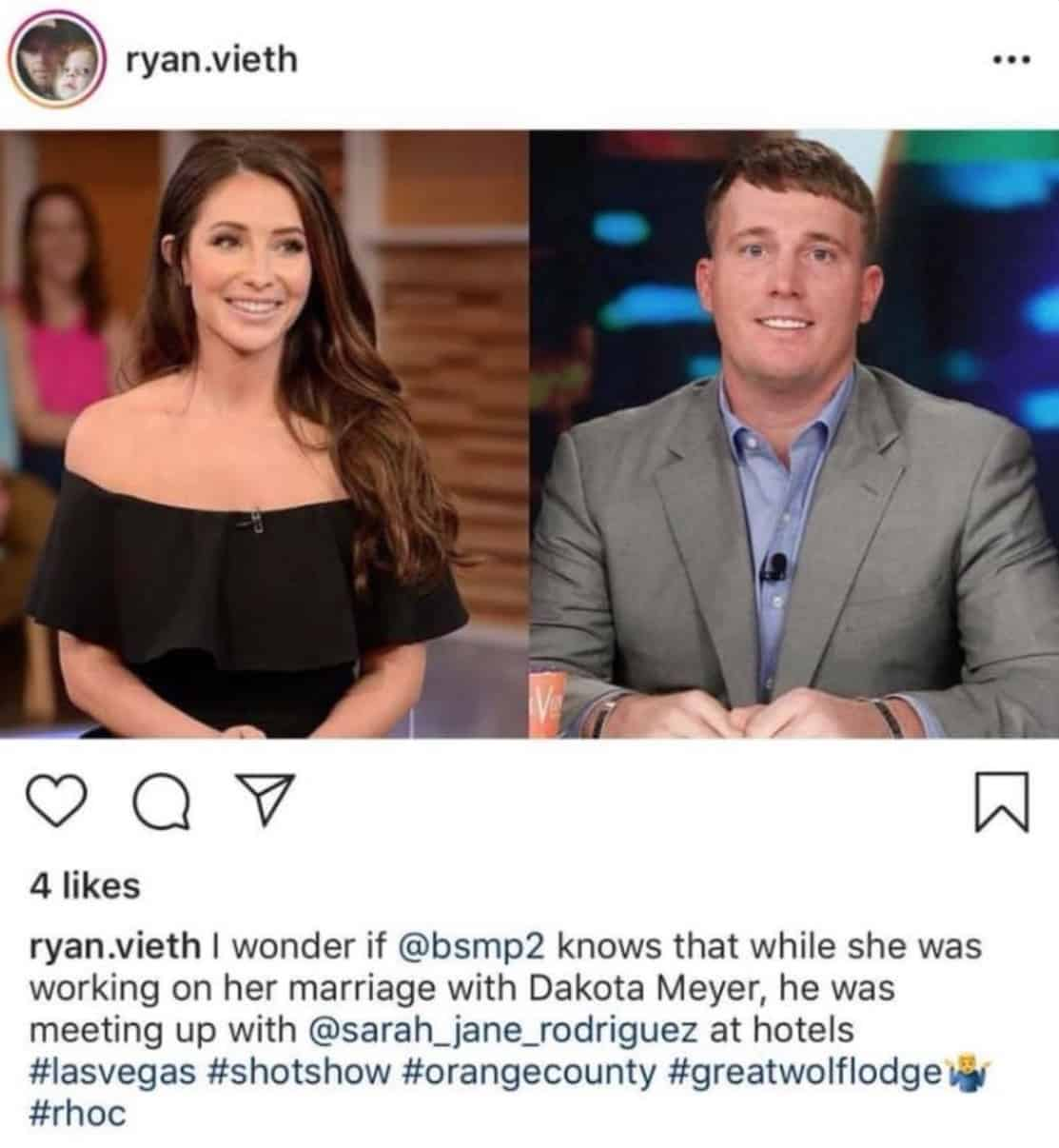 RHOC Ryan Vieth Claims Ex Hooked Up With Bristol Palin's Ex Husband