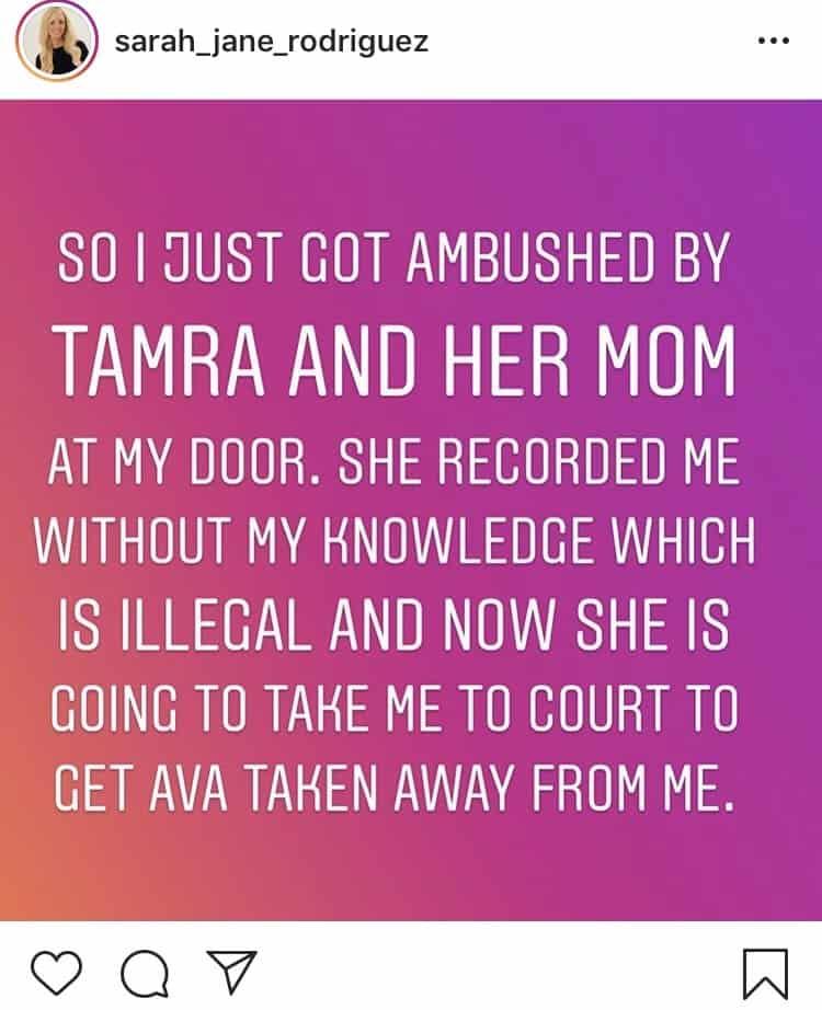 Ryan Vieth's ex-girlfriend Sarah Rodriguez accuses Tamra Judge of ambush