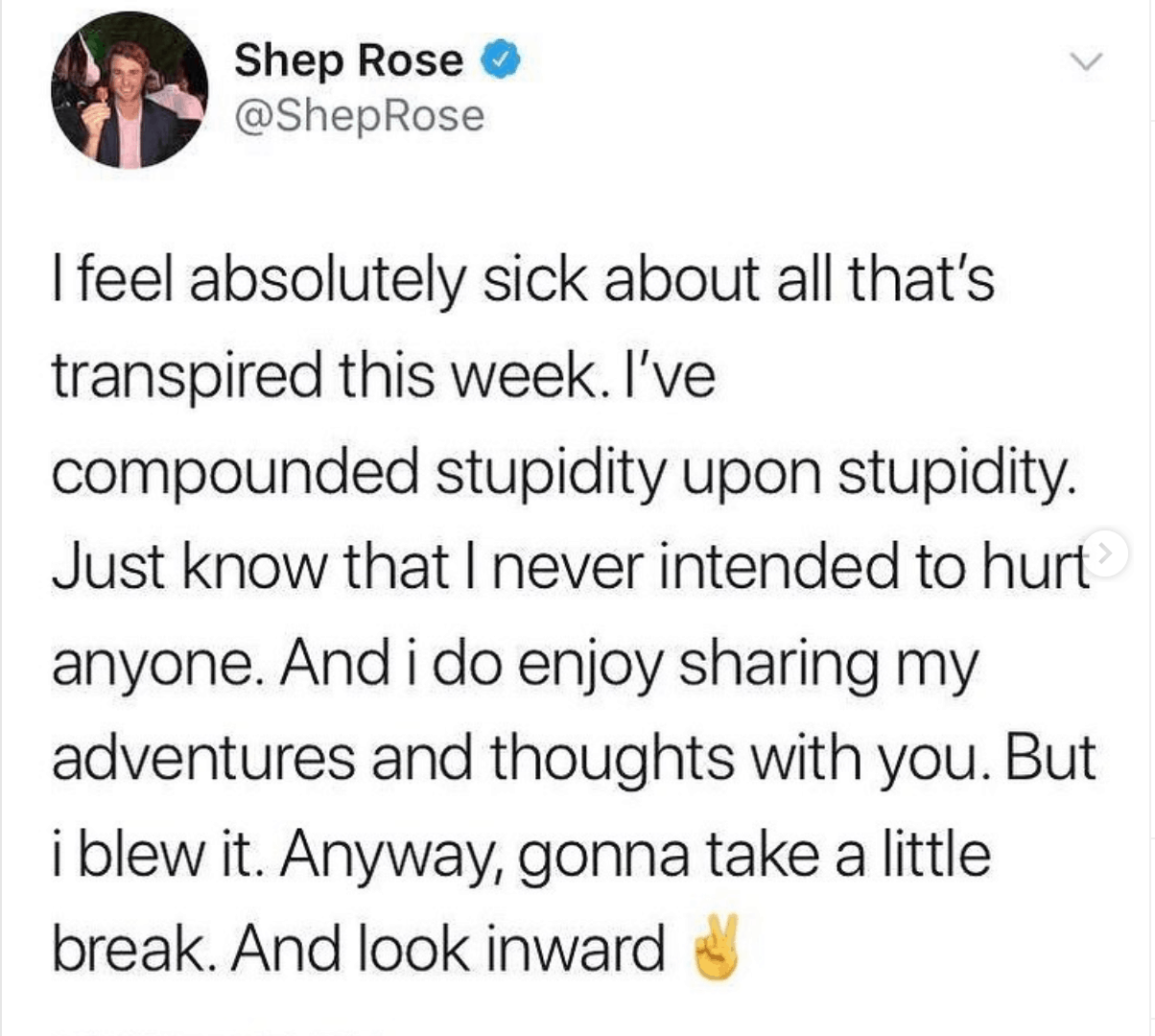 Southern Charm's Shep Rose to reflect after backlash for mocking homeless woman