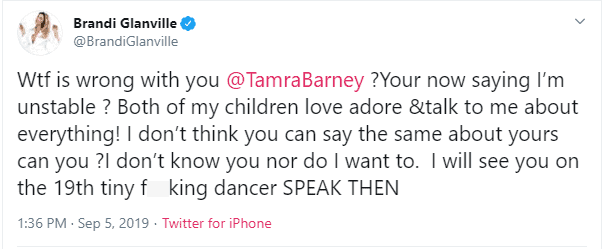 Brandi Glanville Calls Out Tamra Judge on Twitter