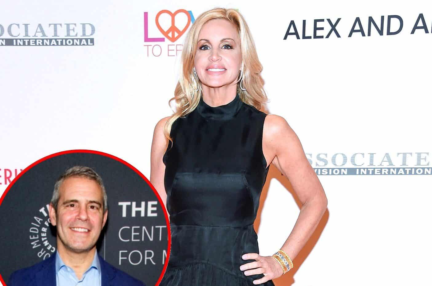 """Camille Grammer Calls Out Andy Cohen For Labeling Her """"Two-Faced,"""" Reveals She Was Asked to Film For New RHOBH Season"""