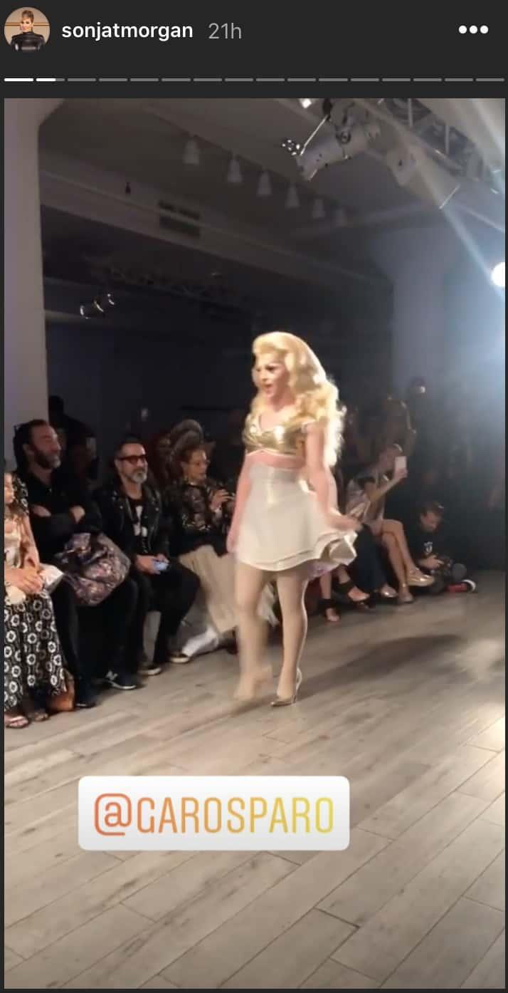 RHONY Sonja Morgan Comments on Drag Queen Miz Cracker at NYFW