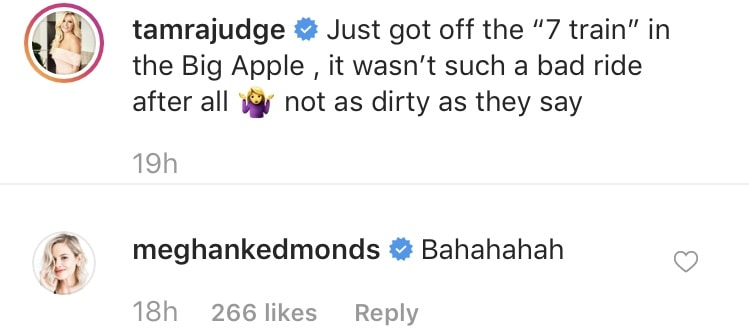 Tamra Judge and Meghan King Edmonds laugh at Kelly train rumor on Instagram