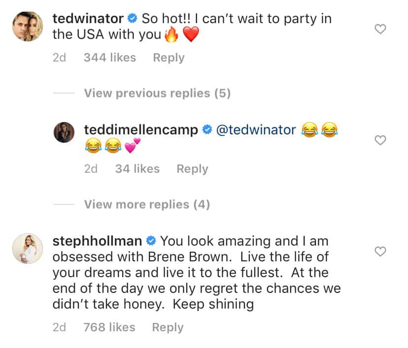 RHOBH Teddi Mellencamp's Husband Reacts to Her Runway Appearance