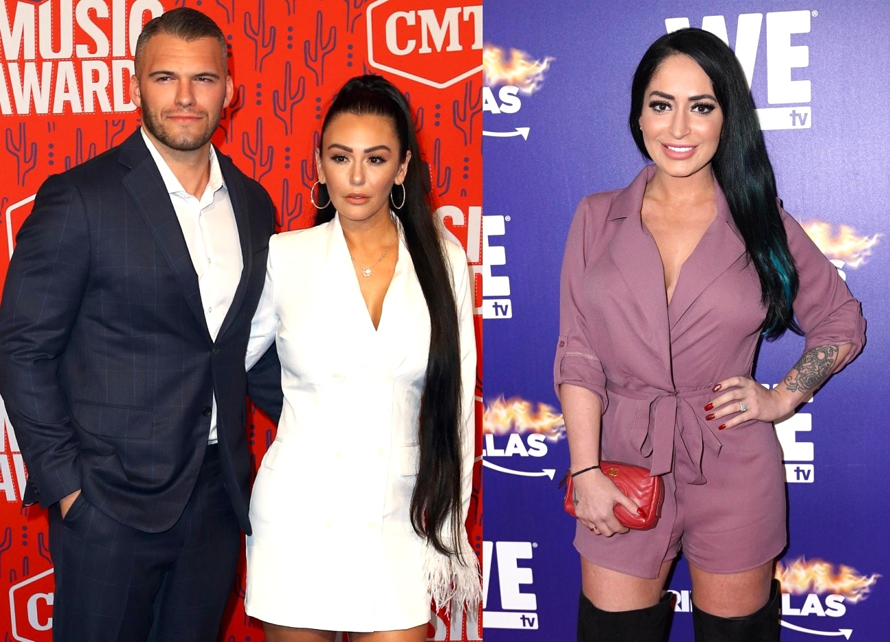 "Jersey Shore's Jenni 'JWoww' Farley Slams Angelina Pivarnick as an ""Idiot"" and Reconciles With Boyfriend Zack Carpinello Days After Dumping Him For Flirting With Angelina"