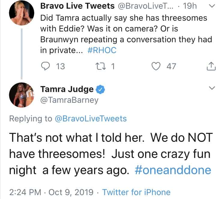 Tamra Judge Responds to Threesomes Rumors in Marriage