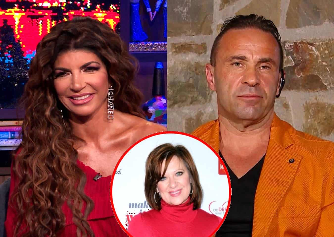 RHONJ's Teresa Giudice and Husband Joe Reveal Status of Their Marriage as Teresa Suspects Caroline Manzo Ratted Her Out, Plus Joe Reacts to Photos of Teresa With Another Man