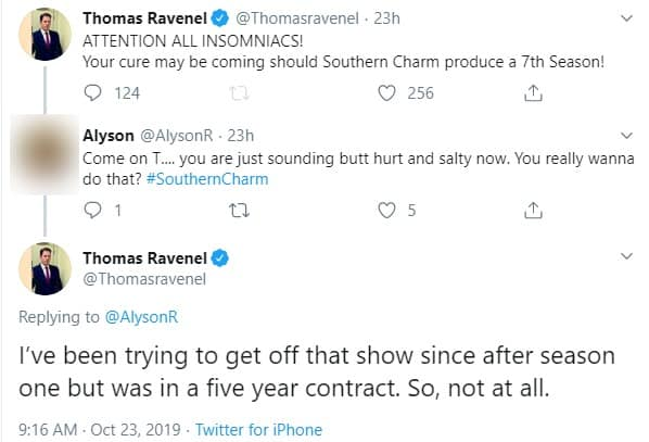 Thomas Ravenel Claims He Tried to Quit Southern Charm