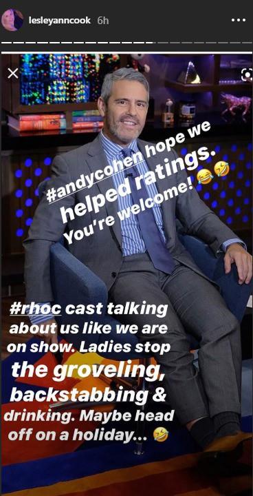 RHOC David Beador girlfriend Lesley Cook claps back at Andy Cohen