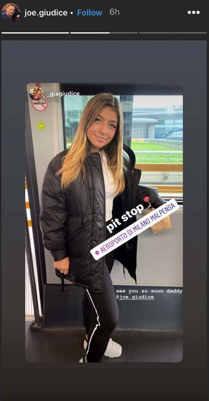 RHONJ Joe Giudice Daughter Gia at Airport Before Italy