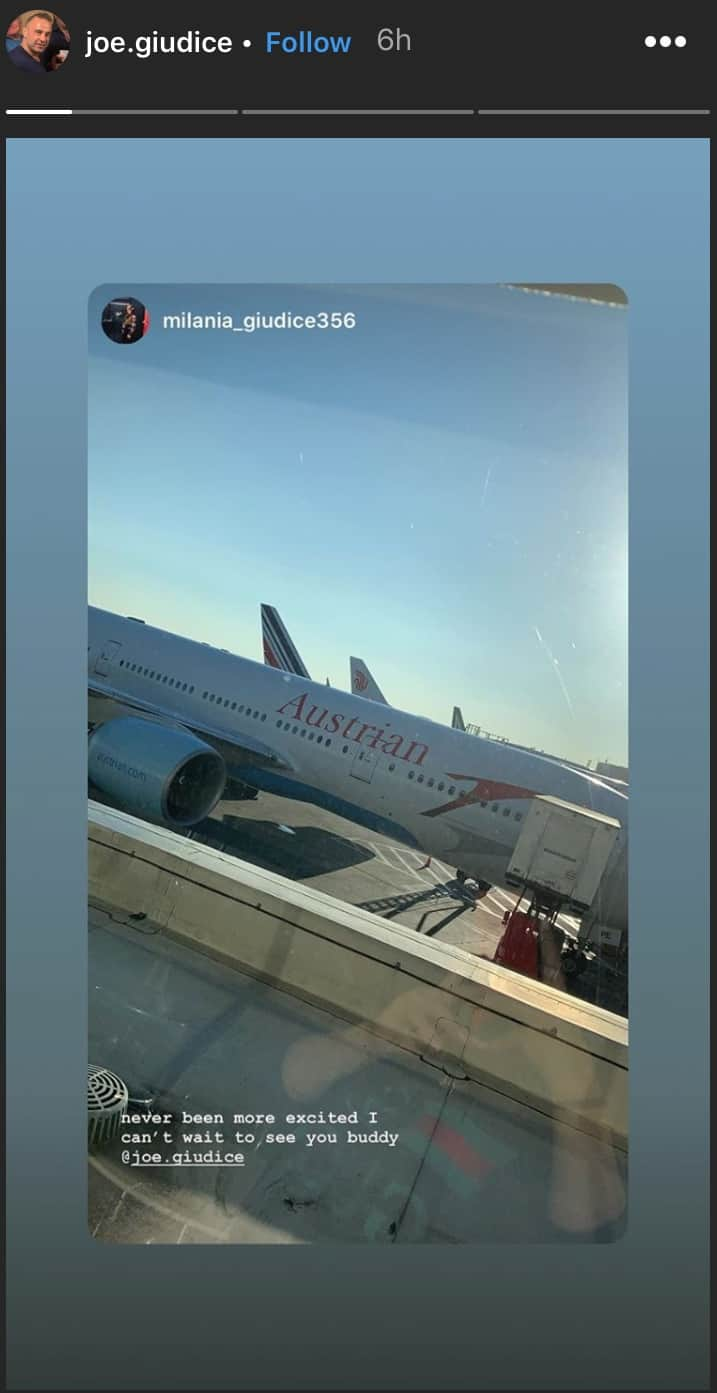 RHONJ Joe Giudice Shares Milania Instagram Post at Airport