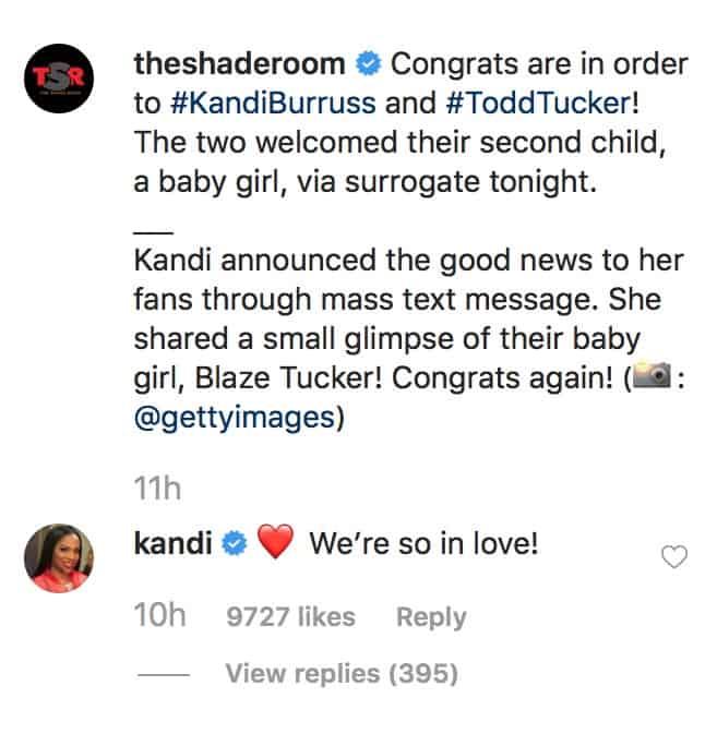 RHOA Kandi Burruss is So in Love With New Baby Girl
