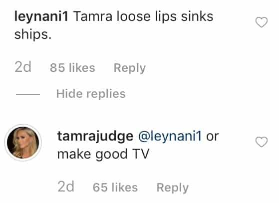 RHOC Tamra Judge Says Her Loose Lips Make for Good TV