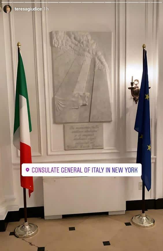 Teresa Giudice visits Italian Consulate