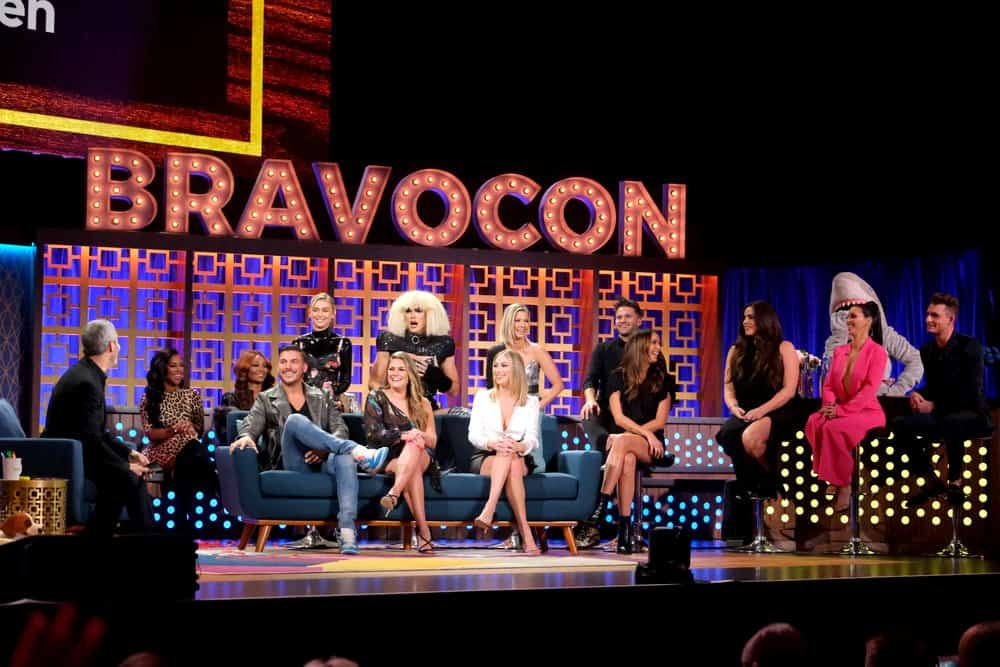 Vanderpump Rules cast members Andy Cohen, Jax Taylor, Brittany Cartwright, Lala Kent, Tom Sandoval, Stassi Schroeder, Ariana Madix, Tom Schwartz, Kristen Doute, Katie Maloney, Scheana Shay and James Kennedy