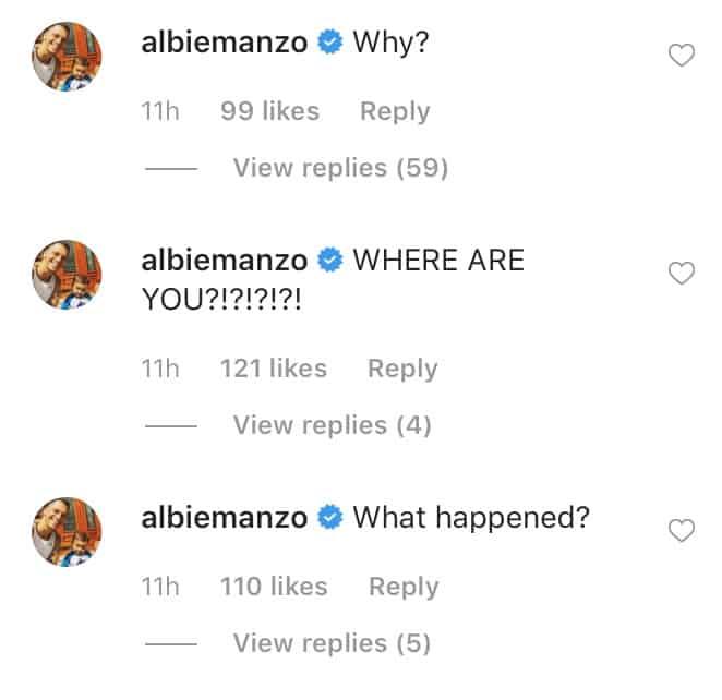 RHONJ Albie Manzo Responds to Caroline Manzo's Los Angeles Trip
