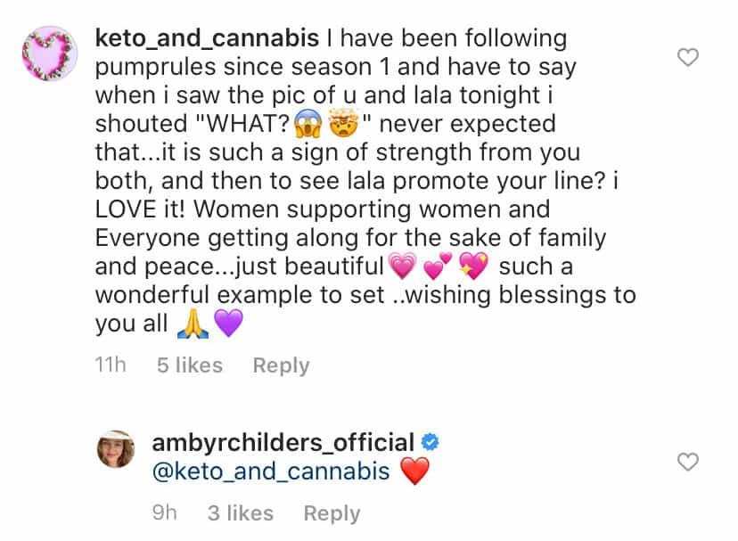 Ambyr Childers Responds to Fan Comment About Lala Kent Reconcilation