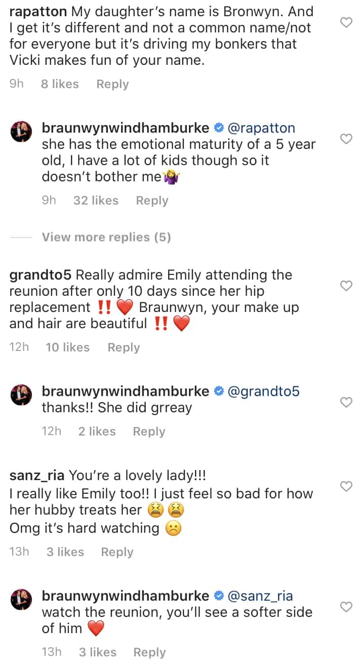 RHOC Braunwyn Windham Burke Disses Vicki Gunvalson and Applauds Emily Simpson's Husband