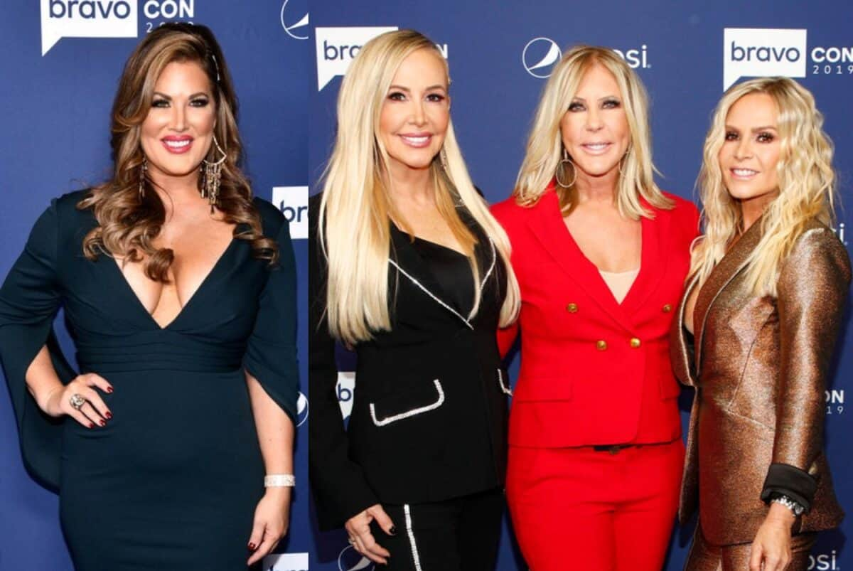 "RHOC's Emily Simpson Shades the 'Tres Amigas' as ""Golden Girls"" and Pokes Fun at Their Potential Spinoff! Plus She Responds to Criticism Over 'Age-Shaming' and RHOC Live Viewing Thread"