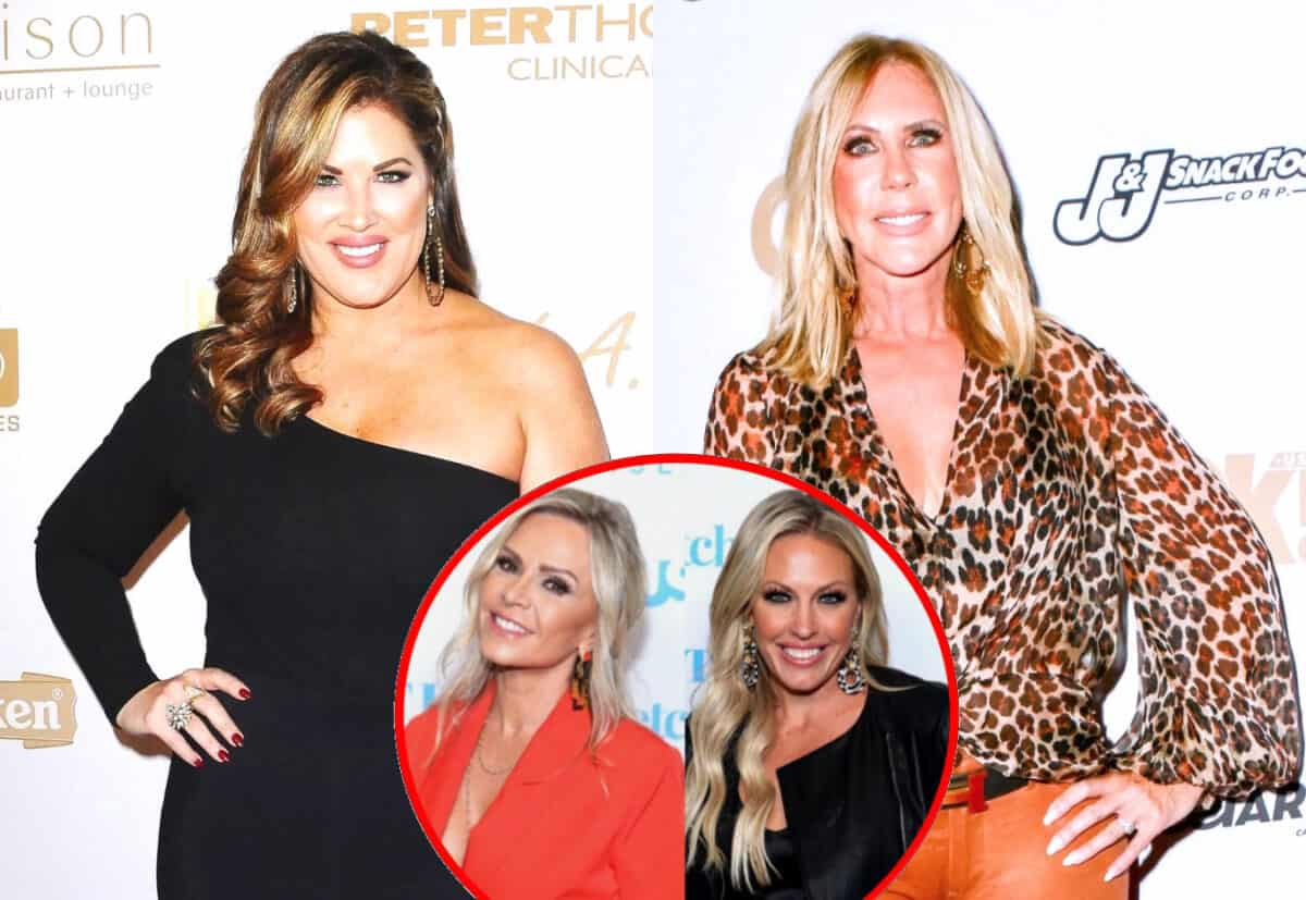 RHOC's Emily Simpson Pokes Fun at Vicki Gunvalson's 'Senior Discount' and Implies She's a Liar in Ongoing Twitter War as Tamra Gets Upset With Braunwyn for Taking Emily's Side in the Feud