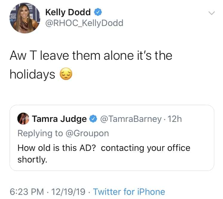 Kelly Dodd Mocks Tamra Judge Over Groupon